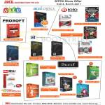 Software Auslogics, Prosoft, Iolo, Bluebeam, Serif, Kingsoft Office 2010
