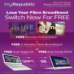 Fibre Broadband Pure, Gamer, Free Service Installation, Free 6 Months Fibre Broadband, Free Acer Aspire S7 Ultrabook Notebook, Acer Iconia W510 Tablet