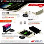 Powerocks Stone 3 External Battery, Stone, Rose Stone