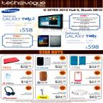 Tech Vogue Samsung Galaxy Tab 2 10.1, Tab 7.7, Folio Case, Leather Stand, Screen Protector, Accessories