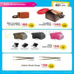 Digital Camera Pen Accessories Mini Leather Cooper Bag, Suit Case, Fabric Neck Strap