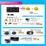 Digital Camera XZ-1 Accessories, Auto Lens Cap, Water Housing, Leather Case, Fabric Neck Strap