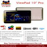 Ray Tech Viewsonic Viewpad 10 Pro Tablet Android