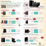 Seagate External Storage Backup Plus. Expansion, Slim Portable, GoFlex Home Media Sharing, Thunderbolt Adapter, Satellite