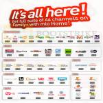 Mio Home Channels Entertainment, News, Education, Lifestyle, Sports, Kids, Asian