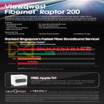 Fibre Broadband Fibernet Raptor 200, Features, Ranking, Free Apple TV