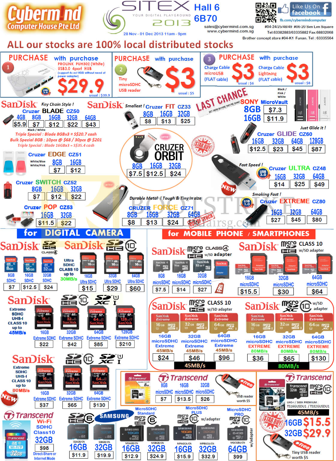 Cybermind USB Flash Drives, Memory Cards, Sandisk Cruzer