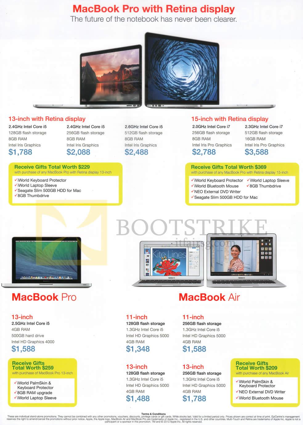 SITEX 2013 price list image brochure of Epicentre Apple MacBook Pro, Apple MacBook Air, Retina Display