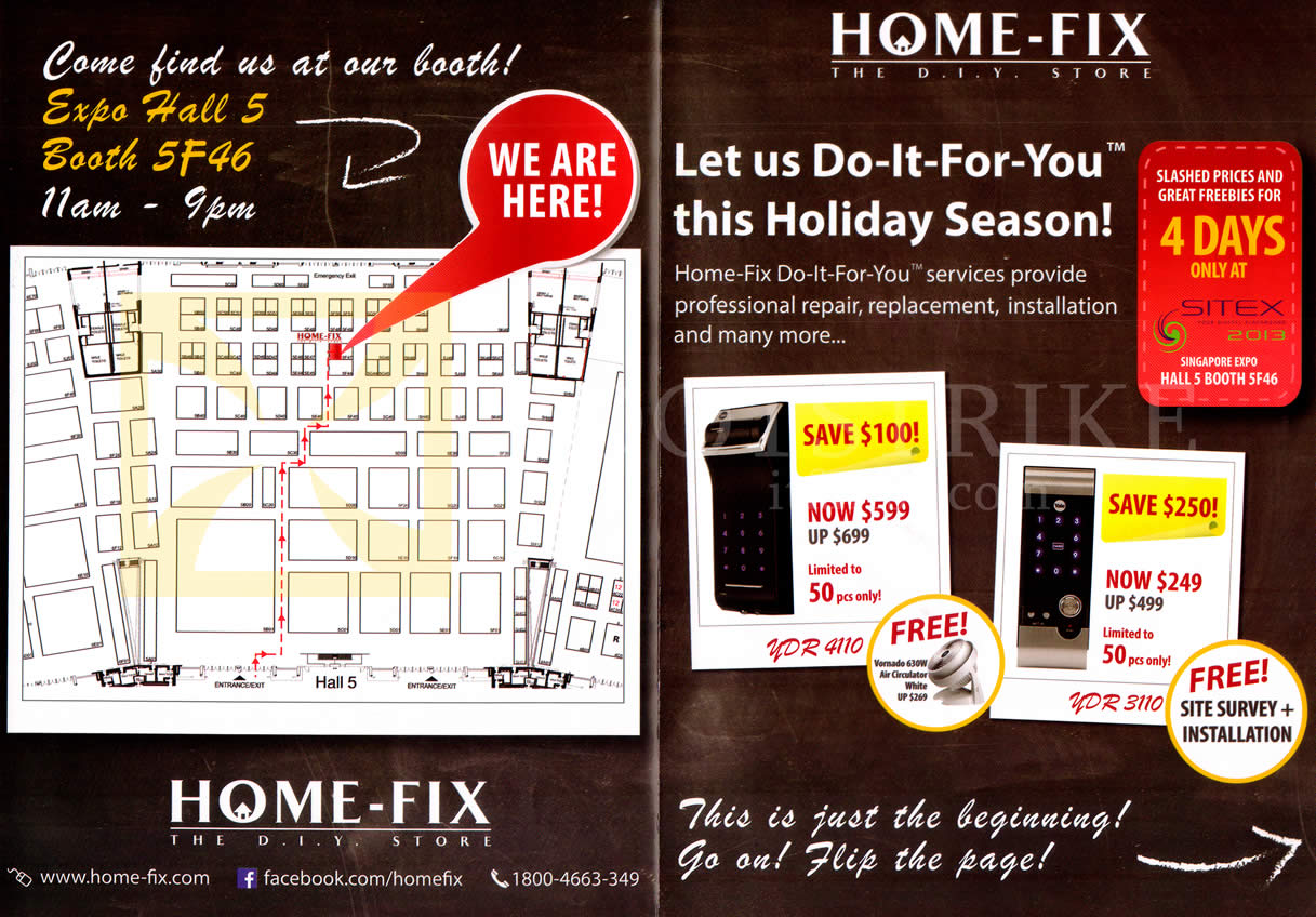 SITEX 2013 price list image brochure of Home Fix Door Security Systems YDR 4110, 3110