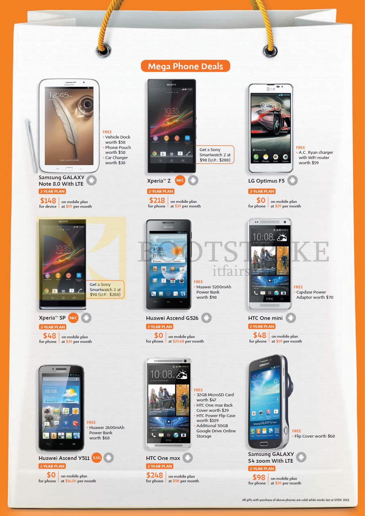 sony xperia u price list 2013. sitex 2013 price list image brochure of m1 mobile samsung galaxy note 8.0, s4 zoom. « sony xperia u
