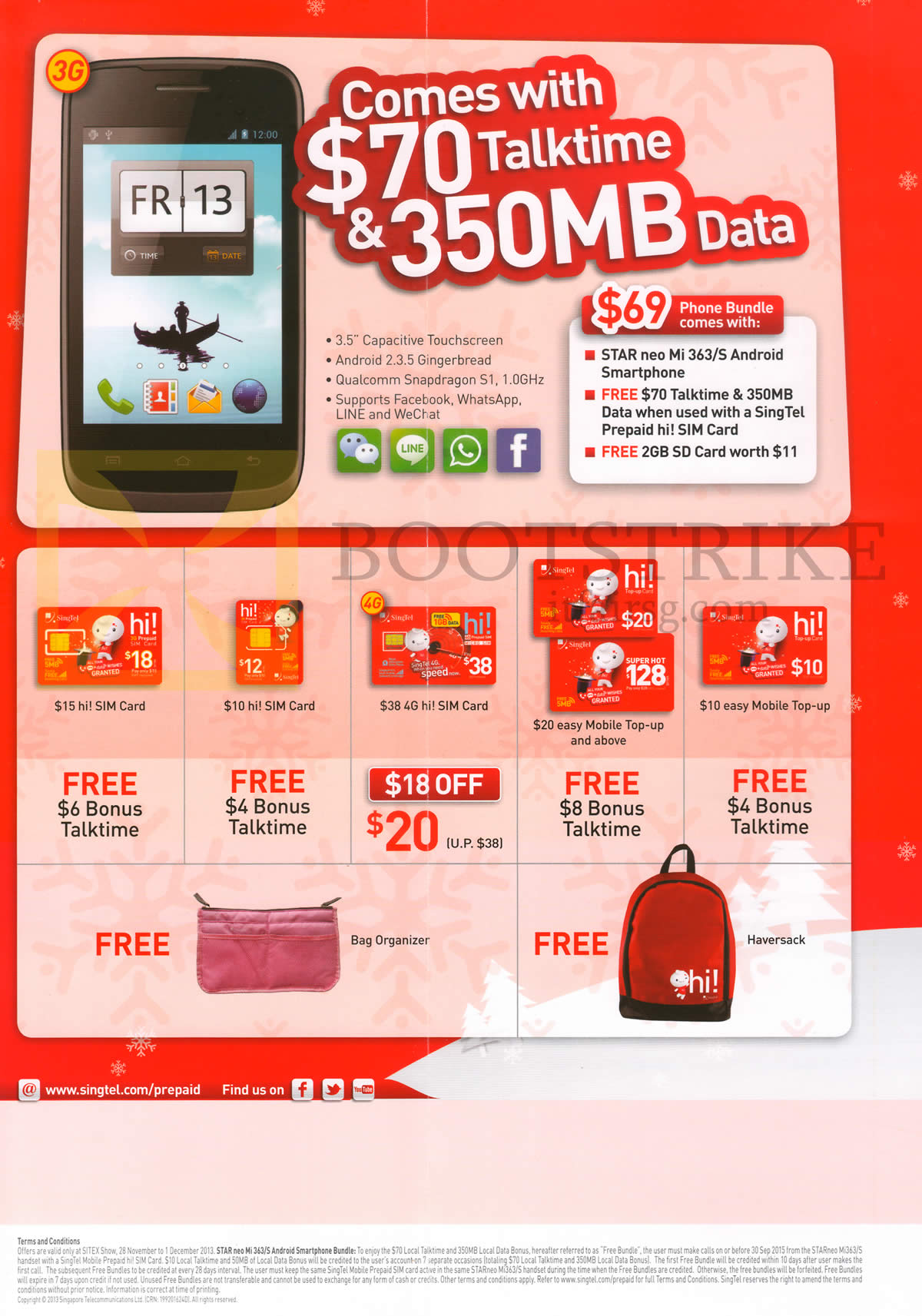 Singtel Mobile Prepaid Hi Card, Star Neo Mi 363 Android, Sim Card