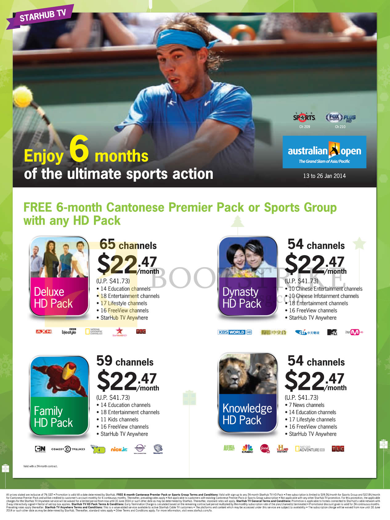 Starhub Cable Tv Free 6 Month Cantonese Premier Pack Or