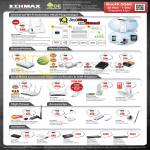 Edimax Networking, Wireless Extender, Router, USB Ethernet Adapter, POE Switches