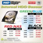 Internal HDD Hard Disk, Western Digital WD Green Blue Red Black 1TB 2TB 3TB 4TB