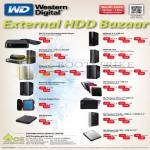 Western Digital External Storage, My Book Live, Duo, Passport, TV Live Media Player, Thunderbolt, VelociRaptor, Nomad