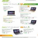 Notebooks Aspire V5 Touch V5-122P, 452PG, 473PG-54208G50a, 573PG-54204G50a, 473PG-74508G1Ta, V7-582Pg, V7-482PG