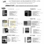 J2 Trading Mobile S,artPhones H3039, N9970, S7100, N9776, S9500, V7, ZOPO980, S7189