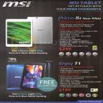 MSI Tablets Primo 81 Snow White, Enjoy 71