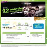 Fibre Broadband HomeHub 200 68.80, 12 Months Free Sports