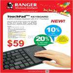 Systems Tech Ranger TouchPad Plus Keyboard Wireless