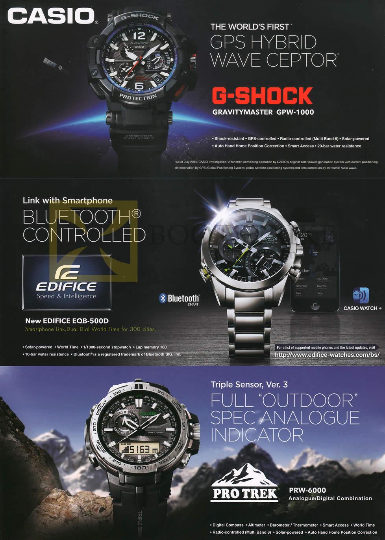 SITEX 2014 price list image brochure of Casio Wrist Watches G-Shock, Edifice, Pro Trek