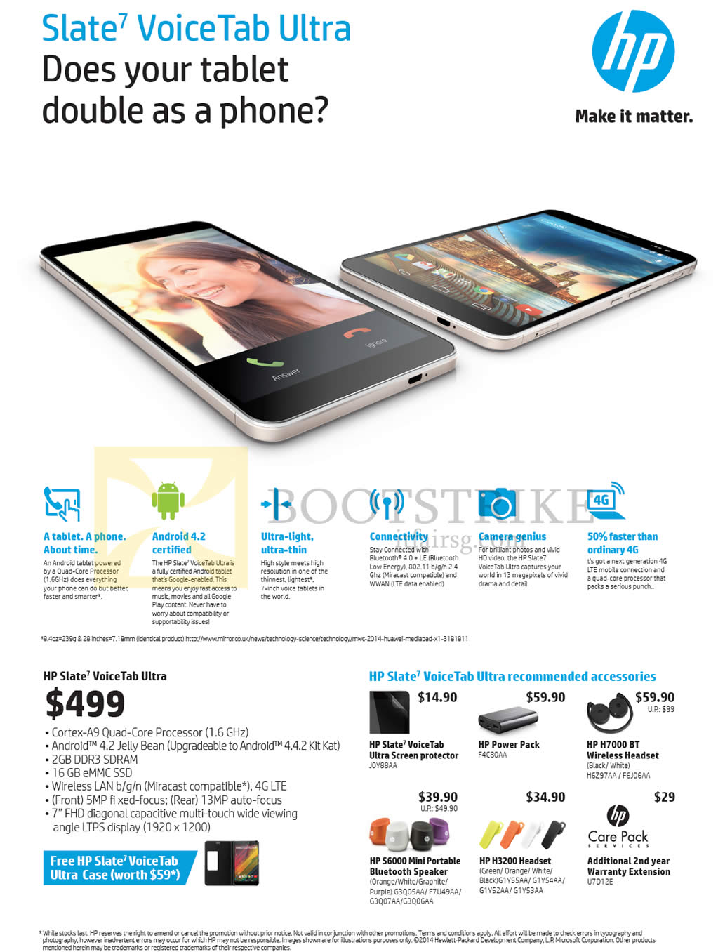 Hp slate 7 voicetab ultra sitex 2014 price list brochure for O tablet price list 2014