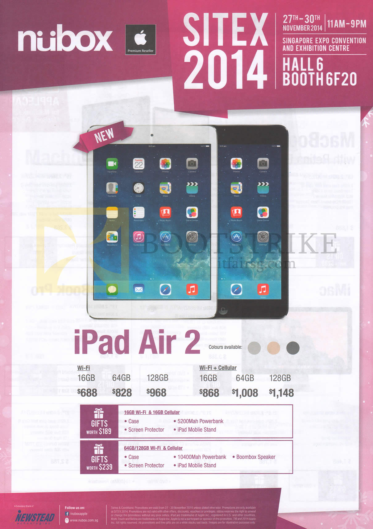 Nubox apple ipad air tablet wi fi wi fi plus cellular 2 for O tablet price list 2014