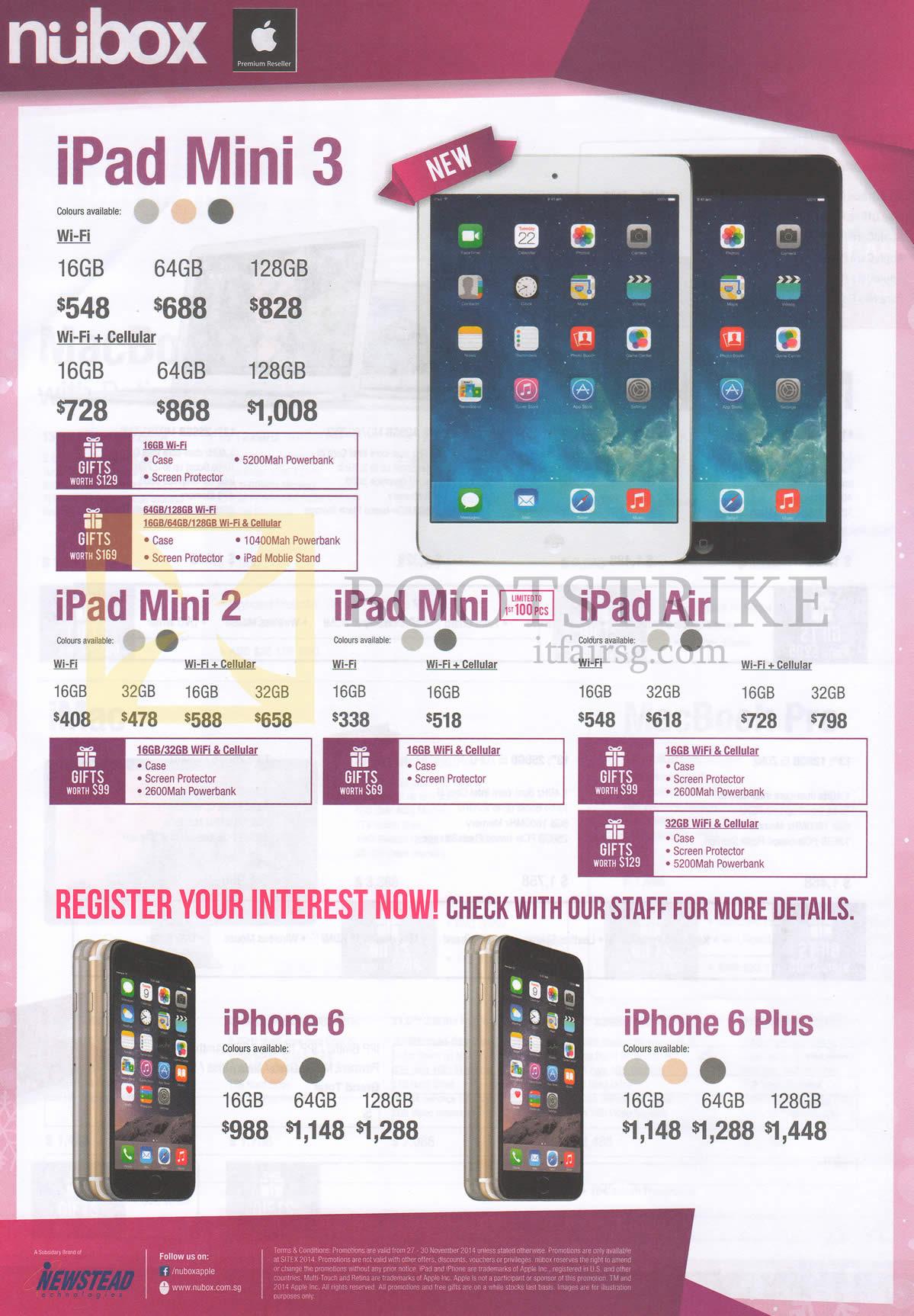Nubox apple ipad mini 3 tablet mini 2 mini air iphone for O tablet price list 2014