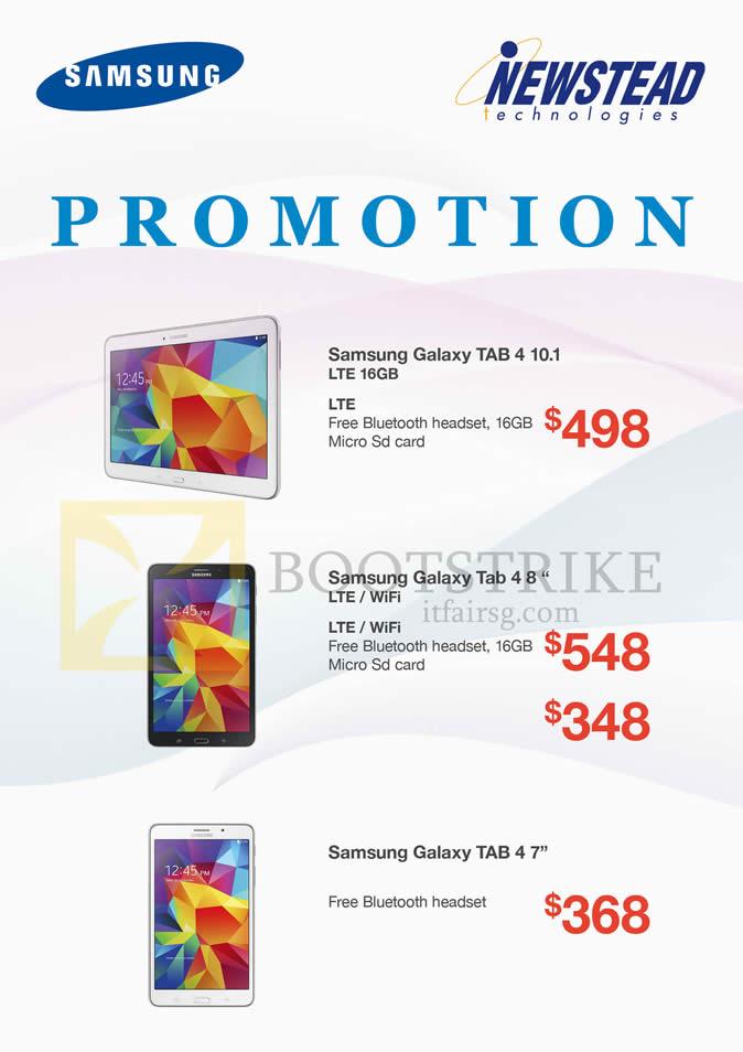 Samsung newstead tablets galaxy tab 4 10 1 tab 4 8 0 tab for O tablet price list 2014