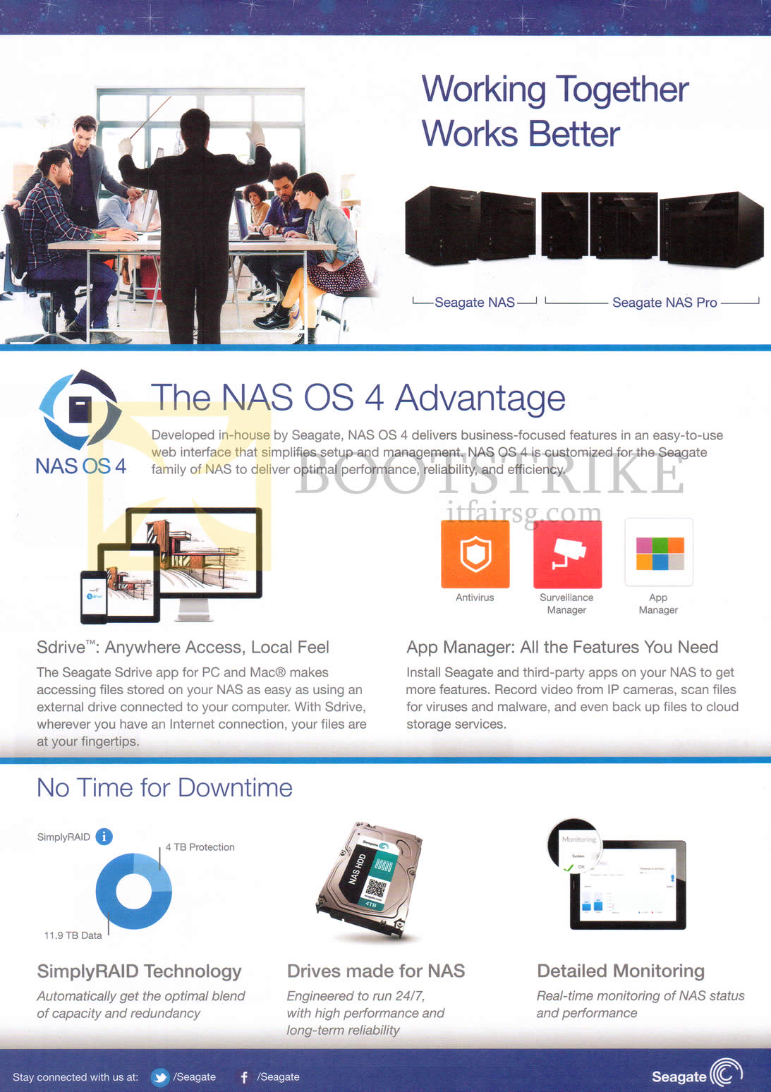 SITEX 2014 price list image brochure of Seagate NAS OS4 Features