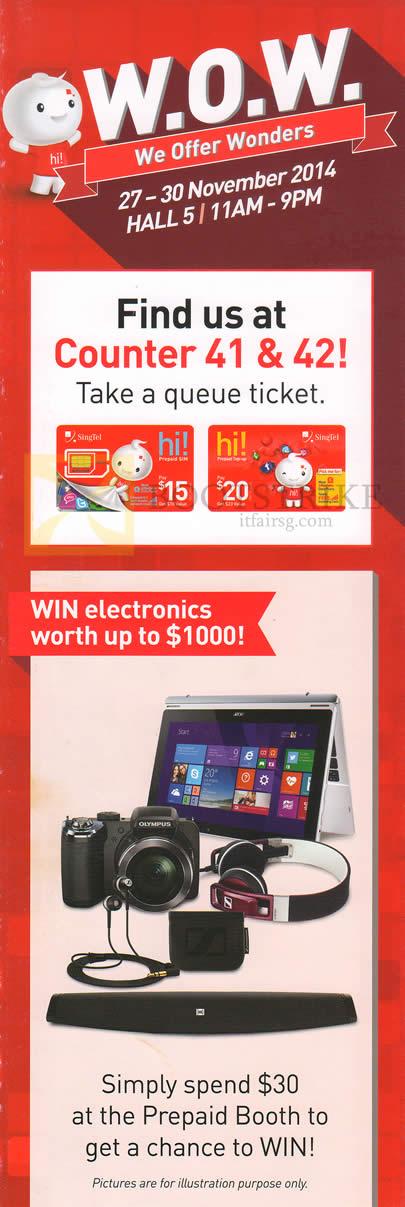 SITEX 2014 price list image brochure of Singtel Mobile Prepaid Spend N Win
