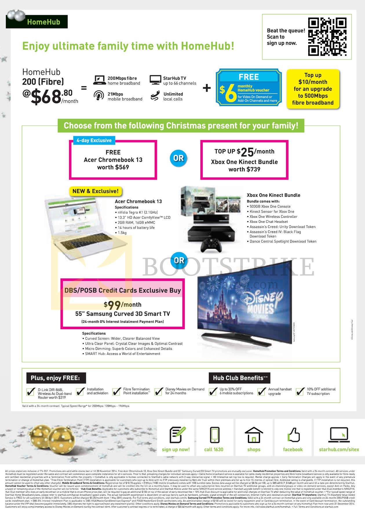 Starhub HomeHub 200 Fibre 68 80 Acer Chromebook 13 Xbox e