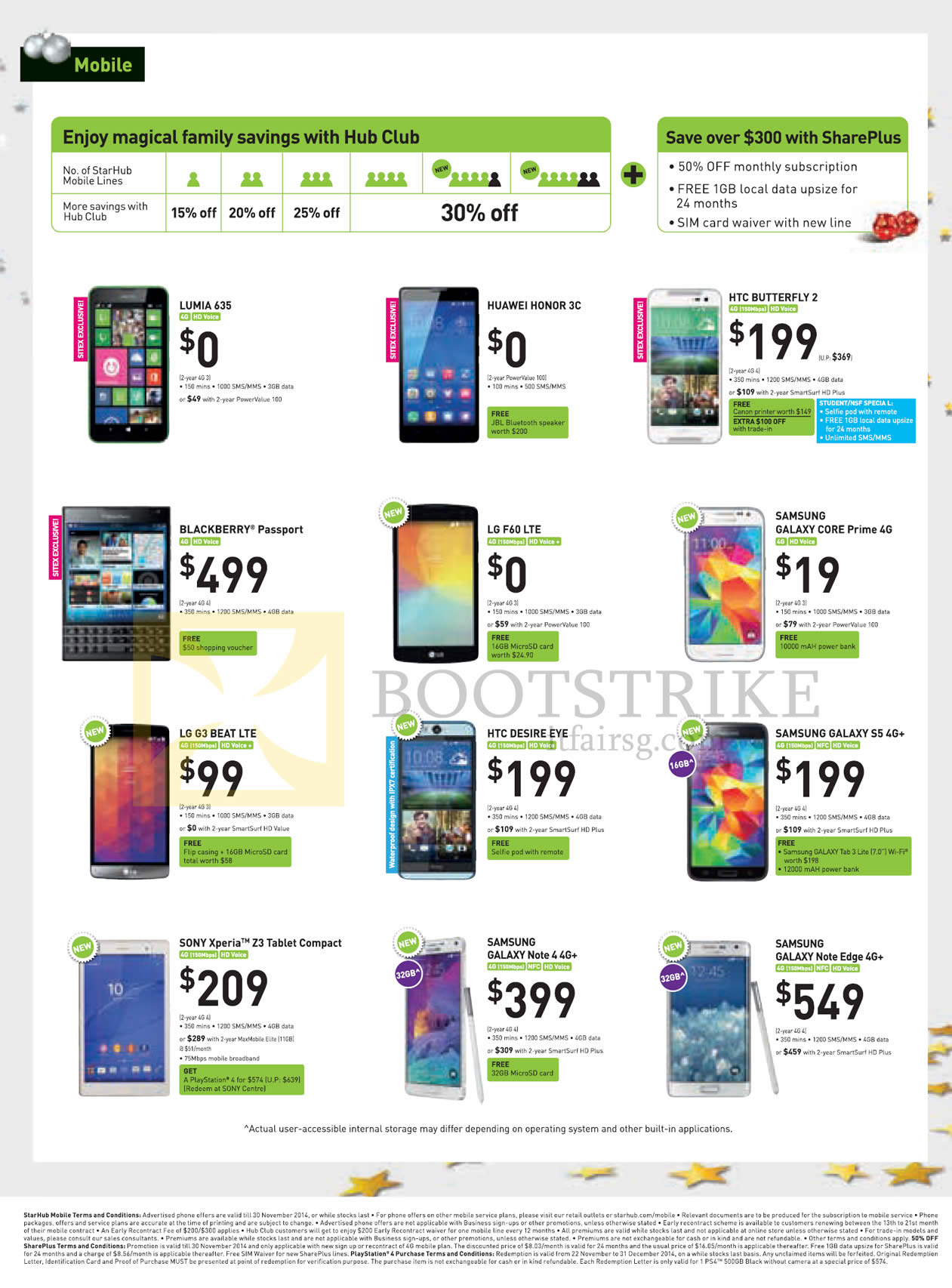 Starhub mobile blackberry passport htc butterfly 2 desire for O tablet price list 2014