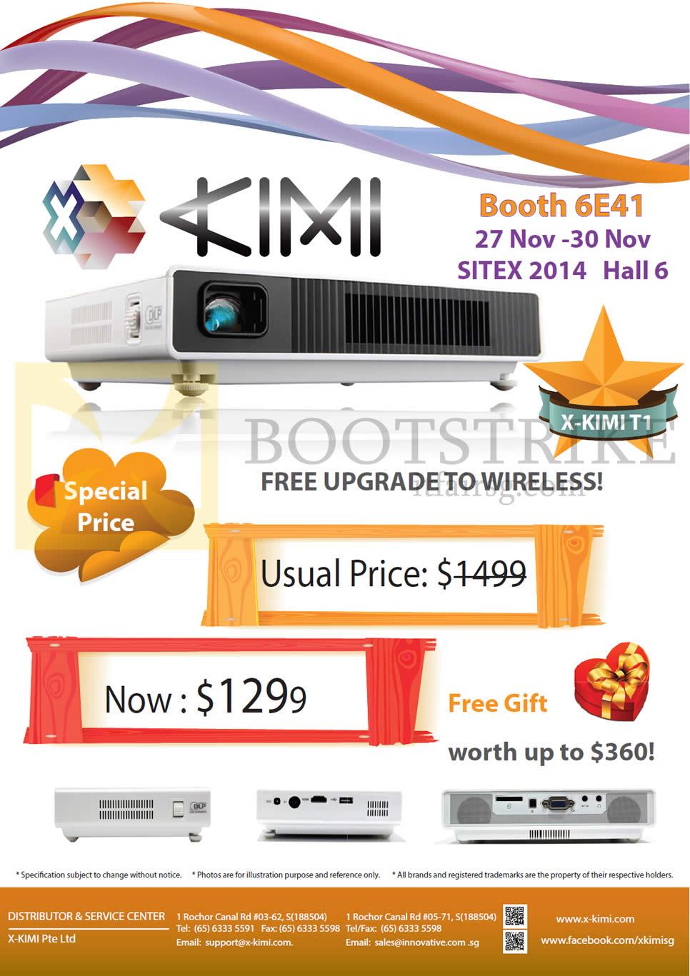 SITEX 2014 price list image brochure of X-Kimi Projector T1