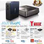 Desktop PCs VivoPC VM62N, VM42, Chrome Box CN60
