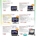 AIO Desktop PCs Aspire ZC-107, ZC-610, Z3-61S, Z3-615, U5-620, Z3-600