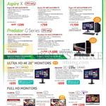 Desktop PCs Aspire XC-605, XC-605, Predator G3-605, G3-605, Ultra HD 4K, MONITORS, CB280HK, XB280HK, H226HQL, G276HL, T232HL