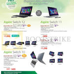 Notebooks Aspire Switch 12, SW5-271, SW5-171, Switch 10 SW5-012