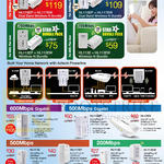 Networking HomePlus Star Bundle Packs, Aztech Powerline Plan, 600Mbps Gigabit, 500Mbps Gigabit, 500Mbps, 200Mbps