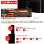 Network Storage NAS LinkStation 410, 420, 441e