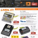 Casio Labellers KL-7400, KL-120, KL-60, KL-820