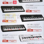 Casio Music Best Denki Keyboards Pianos CTK-245, CTK-2400, CTK-3200, LK-125, LK-247, CDP-220