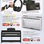 Casio Music Headphones, Pianos, Touch Performance, PX-860, PX-760, PX-150