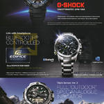 Casio Wrist Watches G-Shock, Edifice, Pro Trek