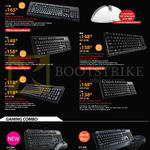 Cooler Master Keyboards Trigger-Z Mechanical, Quickfire Ultimate, Quickfire XT, Octane Membrane, Devastator Membrane