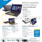 Notebooks Inspiron 15 5000 Series, 11 3000 Series, 13 7000 Series