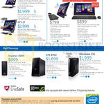 Notebooks, Desktop PCs, AIO Desktop PCs, Inspiron 23, 3000, 20 3000 Series, XPS 27, XPS 8700, Alienware X51