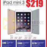 Apple IPad Mini 3 Wi-Fi, Wi-fi Plus Cellular, Free Gifts, 16GB, 64GB, 128Gb