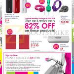 Epitude Accessories Portable Charger, Headphones, IPad Slim Folio Case, Mactrix Power