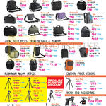 Shoulder Messenger Bags, Zoom, Belt Packs, Trolley Bags, Pouches, Aluminimum Alloy Tripods, Carbon Tripods, Heads, Accessories